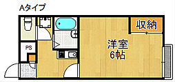 レオパレスエクセレント3号館[1階]の間取り