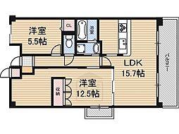 サニーコート江坂2[3階]の間取り