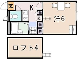 レオパレスサンシャイン田中21[2階]の間取り