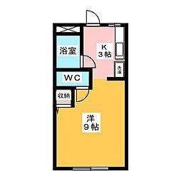 コーポ永坂[1階]の間取り