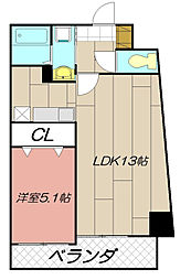 THE SQUARE Suite Residence[801号室]の間取り