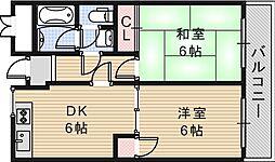 サザンクロス静[3階]の間取り