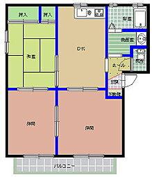 ハイツ新田前 M[101号室]の間取り