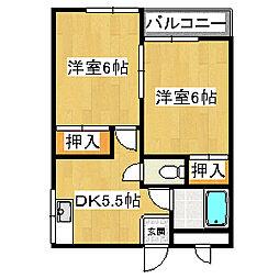 スインスィアフナコシ[2階]の間取り