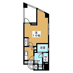 イナノビル 3階1Kの間取り