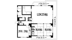 兵庫県宝塚市長寿ガ丘の賃貸マンションの間取り