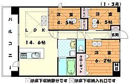 ルネス福間駅東[1階]の間取り