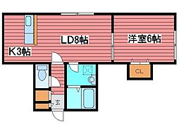 コート西岡4・1[2階]の間取り