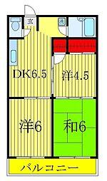 第二青木マンション[2階]の間取り