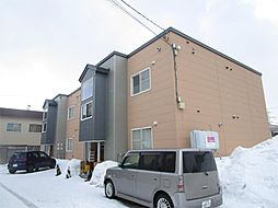 北海道札幌市北区篠路二条7丁目の賃貸アパートの外観
