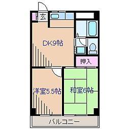 神奈川県横浜市港北区大倉山5丁目の賃貸マンションの間取り