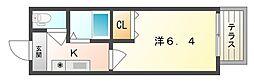 寝屋川菊池ハイツ[2階]の間取り