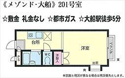 メゾンド・大船[201号室号室]の間取り