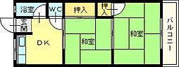 大阪府堺市北区百舌鳥梅町2丁の賃貸アパートの間取り