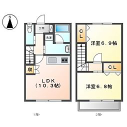 Lucent House[1階]の間取り