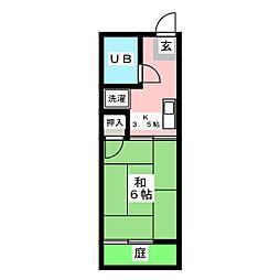 シティハイムマチハタA[1階]の間取り