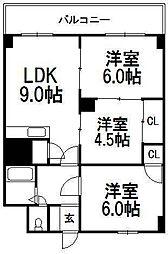 エターナル1[3階]の間取り