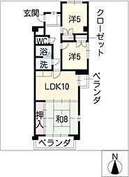 ハイツ福寿草[1階]の間取り