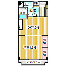 愛知県名古屋市中村区長戸井町3丁目の賃貸マンションの間取り