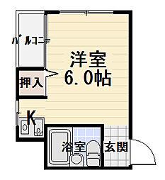 パレス守口[4階]の間取り