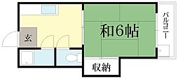 若竹ハイツ[2階]の間取り