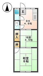 石黒荘[2階]の間取り