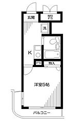 神奈川県相模原市中央区中央1丁目の賃貸マンションの間取り