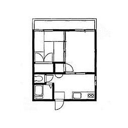 大槻荘[1階]の間取り