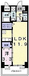 JR宇野線 備前西市駅 3.3kmの賃貸マンション 7階1LDKの間取り