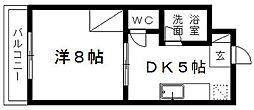 マンションアパレイユ97[302号室]の間取り
