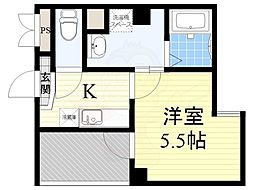 Osaka Metro堺筋線 天下茶屋駅 徒歩5分の賃貸マンション 7階1Kの間取り