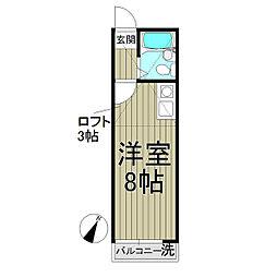 R-KAMAKURA[202号室]の間取り