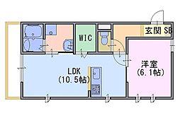 グレース洛西口 B棟[301号室]の間取り