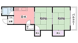 アスエ香枦園マンション[301号室]の間取り