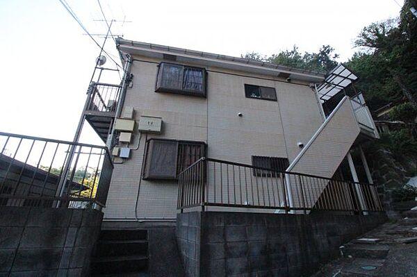 神奈川県横須賀市東逸見町4丁目の賃貸アパートの外観