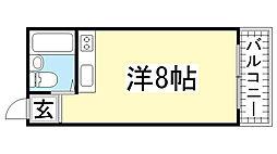 ファラン鈴蘭台[503号室]の間取り