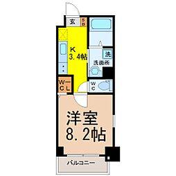 愛知県名古屋市中区新栄3の賃貸マンションの間取り