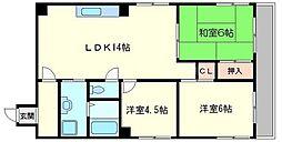 第3浦濱ビレッジ[5階]の間取り