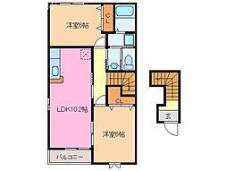 ポラリスC棟[2階]の間取り