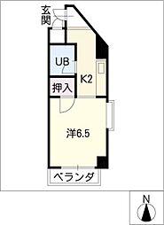ジュネス瓢箪山[5階]の間取り