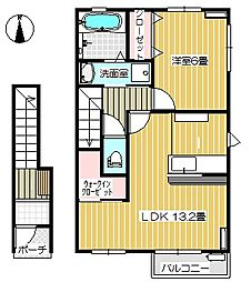 Cielo(シエロ)[A202号室号室]の間取り
