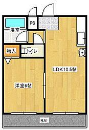 Osaka Metro今里筋線 太子橋今市駅 徒歩2分の賃貸マンション 3階1LDKの間取り