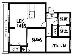 MSタウンIII[A-1号室]の間取り