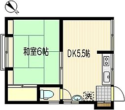 有明荘[201号室]の間取り