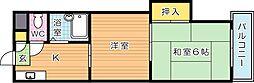 アベニュー筒井[4階]の間取り