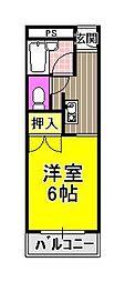 大阪府羽曳野市西浦1丁目の賃貸マンションの間取り