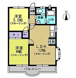 エステートオギシマ[2階]の間取り