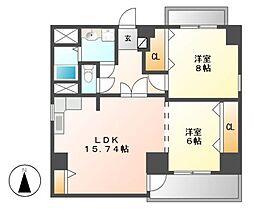 第2清和ビル[5階]の間取り