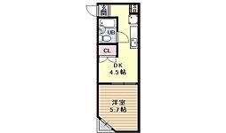 第10パールハイツ藤[4D号室号室]の間取り