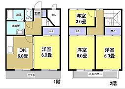 [タウンハウス] 静岡県袋井市山名町 の賃貸【/】の間取り